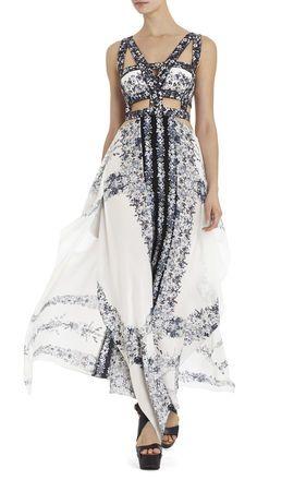 H440 black and white dress