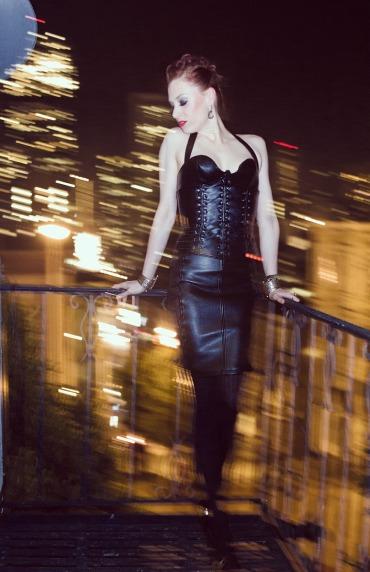 Caity Black Leather