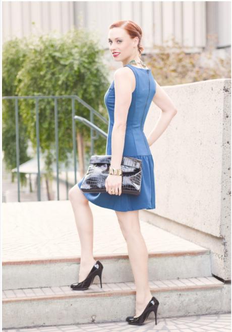 Caity Blue Dress