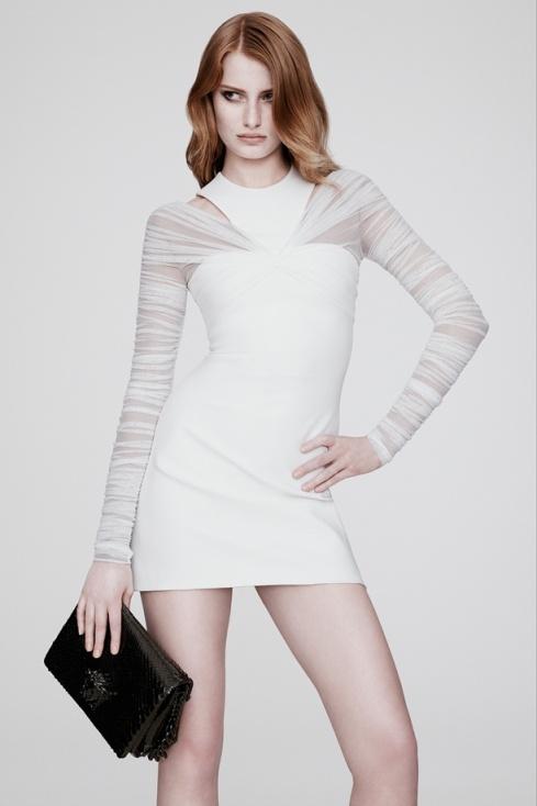 white versace dress