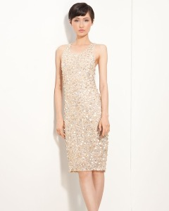 Alice + Olivia Gold Sequined Dress