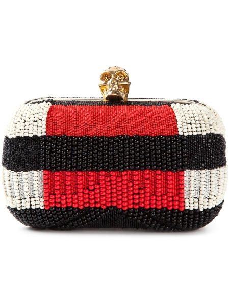 mcqueen beaded clutch