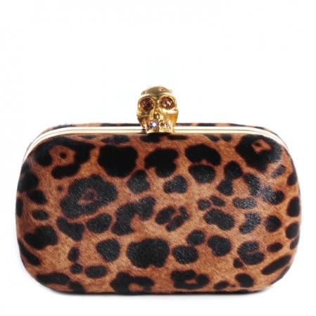 mcqueen leopard clutch