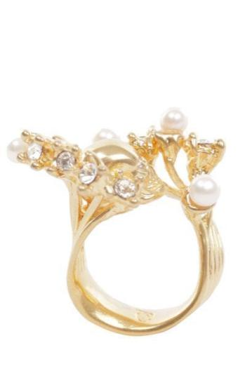 mcqueen wave skull ring