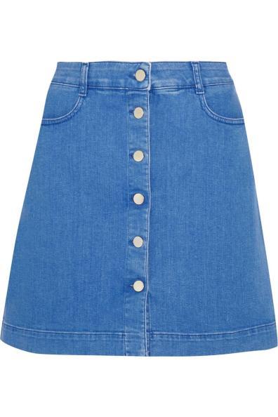 Stella McCartney Stretch-denim mini skirt