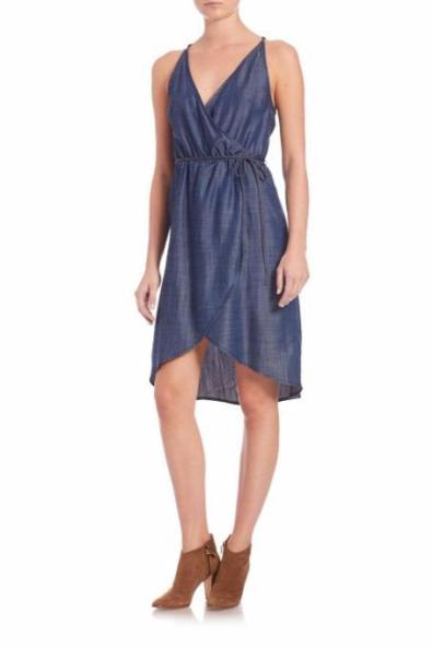 7 For All Mankind Denim Wrap Dress