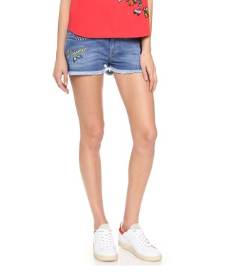 Patched Icon Mini Shorts