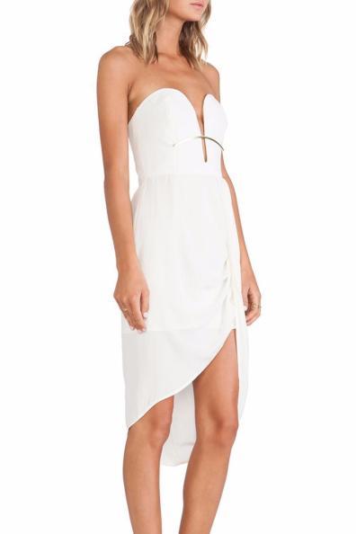 Silk Curve Bar Dress
