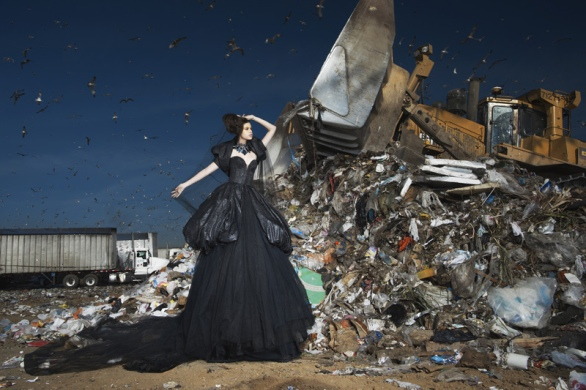 """""""Lana Marks"""" -- The girls are dismayed to learn their shoot will take place at a landfill, where they will wear eco-friendly couture creations by designer Michael Cinco and be photographed by judge/photographer Nigel Barker on America's Next Top Model on The CW.Pictured: JaclynCycle 16Photo: Nigel Barker/Pottle Productions Inc©2011 Pottle Productions Inc. All Rights Reserved."""